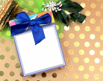 Anna Griffin Large Note Pad with Bow Asbury Colorific Collection
