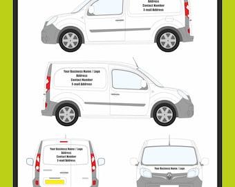 Small / Medium / Extra Large Custom Van Graphic Sign Writting - Van Decals Custom Lettering