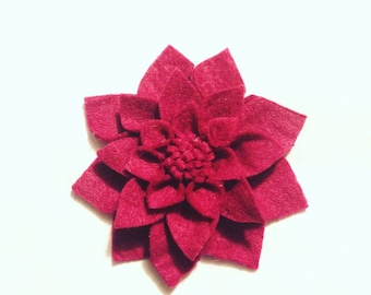 Fiver friday Dahlia brooch,  felt flower pin Mother's Day gift handmade floral badge gift for her ladies present