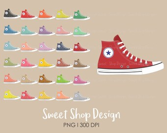 Shoes Clip Art, Sneakers Clip Art, Athletic Shoes, Royalty Free Clip Art, Planner Stickers, Instant Download