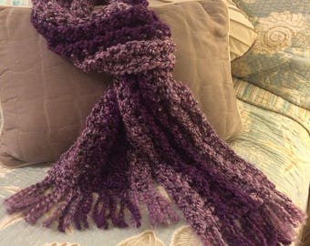 Handcrafted Purple Scarf