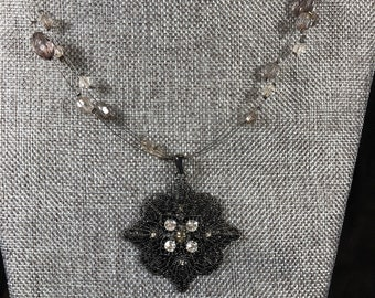 """14"""" multistrand necklace with anaxing pendant"""