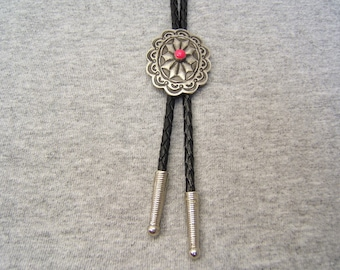 On Sale! Free Shipping*! Indian Bolo Tie, Bolos, Mens, Womens, Bolo Ties, Bola, Bolas, Boho Necklaces,Tribal, Pewter, Asst. Colors, #80341-2
