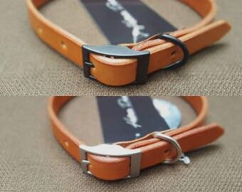 Tan Handmade Leather Dog Collar