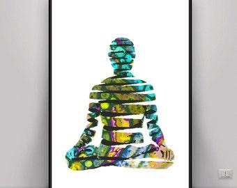 Buddha Art, psychedelic Art, Meditation Art, DIGITAL ART, Digital print, Digital Art, Art, Energy Art, Energy Print, Yoga Art, Psychedelic