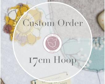 Custom Pebble bird Embroidery Hoop