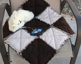 Pet Sofa Cover, Brown and Tan Cat Blanket, Pet Blankets, Pet Supplies, Cat Bed, Pet Mat,Fabric Cat Blanket, Colorado Catnip Bed, Pet Bedding