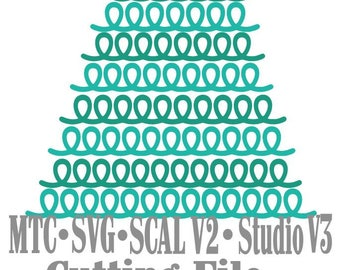 SVG Border Loopy bundle #1 Set of 7 Scrapbooking  MTC Cricut Silhouette SCAL Cutting File