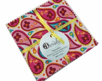 "Hoot Town by 3 Wishes Fabrics  - (20) 5"" x 5"" Charm Pack"