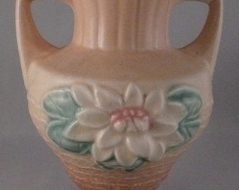 Collectible Vintage Hull Art, Hull Art Vase, Water Lily, Excellent Condition, Dusty Rose, Collectible Hull Art Vase, Ceramic Flower Vase