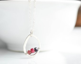 Birthstone Necklace for Mom - Grandmother Necklace - Personalized Mom Gifts - Mothers Birthstone Necklace - Family Birthstone Necklace