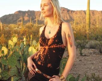 Rocker Chick Racerback Bodysuit - Tie Dye - Festival Fashion