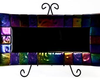 Iridescent Textured Platter