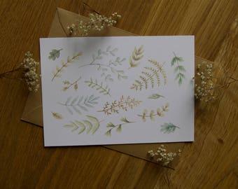 Green Plants - Card
