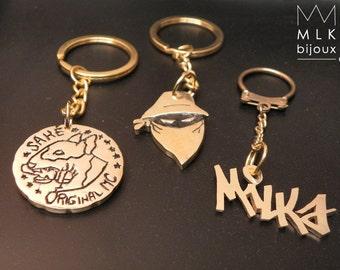 Custom brass key