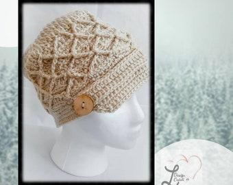 Chapeau casquette au crochet