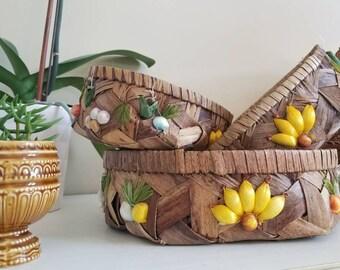 Kitschy Goodness- Set of 3 Baskets