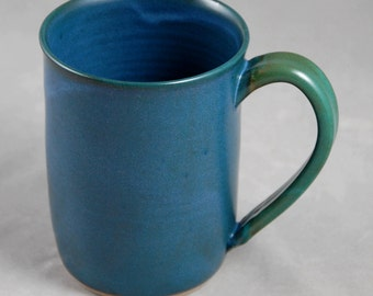 Monster Mug in Teal Blue with Contrasting Teal Green Handle Holds 28 oz