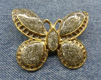 BEAUTIFUL gold Butterfly brooch