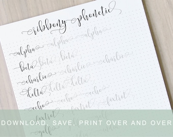 Fancy lower case brush lettering worksheets calligraphy