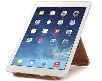 Wooden iPad/iPad mini Stand, iPad Stand Wood,Tablet Stand,iPad Holder,iPad Dock,Walnut Bent Plywood,Tablet Platform,Dock Station