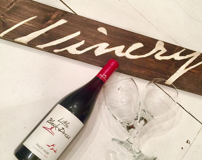 Wine Signs Decor. Wine Sign On Wood. WInery Sign. Wine Puns. Winery Art. Winery Gifts. French Wine Art. Wine Tasting Party. Wine Bar Decor.