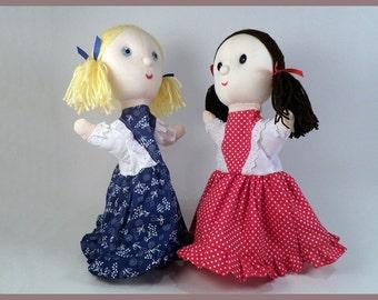 Little girl puppets