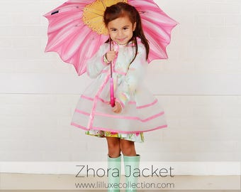 Zhora Jacket clear raincoat or lightweight jacket modern pdf easy sewing pattern