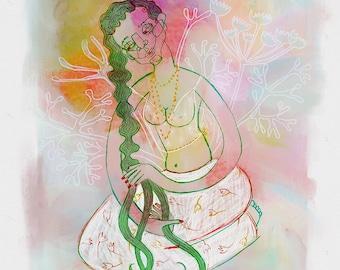 Illustrated art print, Gisoo
