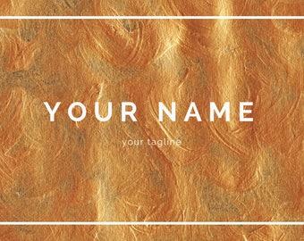 Custom YouTube Blog Web Banner - Copper Paint Design
