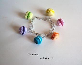 pastel macarons charm bracelet