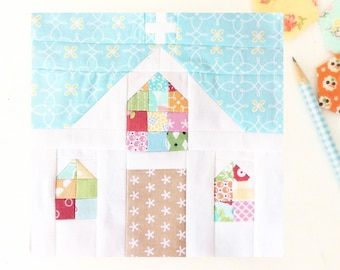 Country Church Quilt Block PDF Instant Download Quilt Pattern 6 inch and 12 inch block instructions