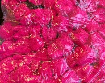 Large bag of coloured fabric 80+ pom poms- Perfect pom poms for DIY, Craft Pom Poms, Fabric fashion pom pom, colourful kids crafts gift poms