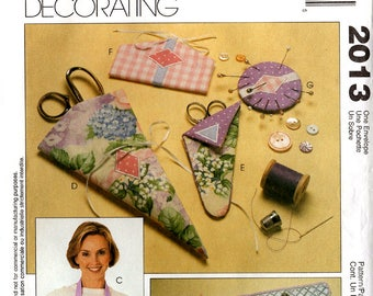 Uncut Nancy Zieman SEWING ACCESSORIES PATTERN McCall's #2013 Scissors Case Ironing Board Cover Pin Holder Needle Case Pressing Blanket Caddy