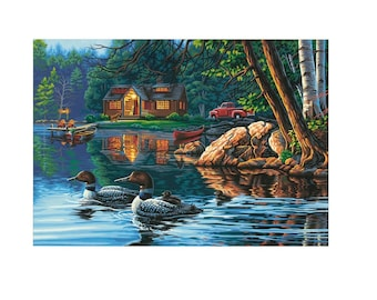 PAINTWORKS Dimensions Paint by Number Kit ECHO BAY 20 x 16 inches