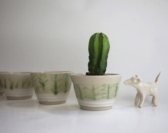 Pot for plant, ceramic, handmade