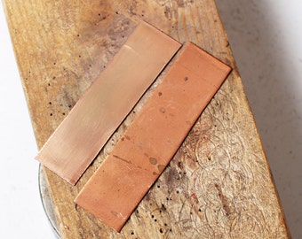 Pure copper bar for making etching ring. Set of 3.