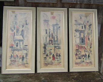 Set of 3 mid century prints by Russell  IBF Co