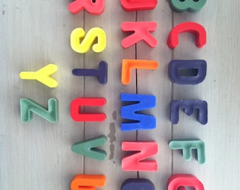 Alphabet Crayons, Custom Colors- Great Party or Birthday Favor Set of 26