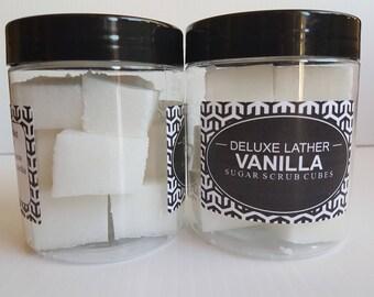 Vanilla sugar scrub cubes. Exfoliating scrub. Vegan scrub. Gift for her.