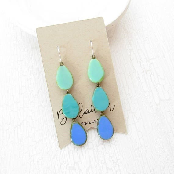 Coronation Earrings > Turquoise