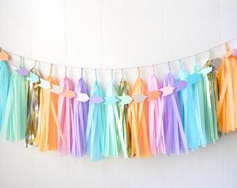 Free Shipping - Tassel Garland - Gold and Bright - Colorful Wedding decor - Bridal Shower - Nursery Decor - Photo Prop