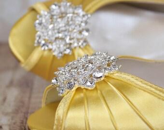 Yellow Wedding Shoes, Yellow Wedding, Bridal Shoes, Wedding Shoes, Yellow Wedding, Wedding Wedges, Wedge Wedding Shoes, Yellow Shoes