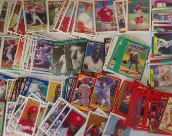 Cincinnati Reds set of 203 vintage baseball cards for decoupage, framing, crafts, collecting 1990-92 Nasty Boys World Series FREE SHIPPING!