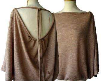 Iridescent mesh Jawila tunic sweater