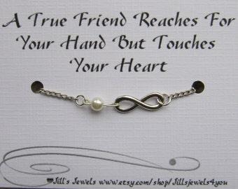 Friendship Bracelet, Best friend Bracelet, Infinity Bracelet, Going Away Gift, Graduation Gift, BFF Bracelet, Inspirational Bracelet