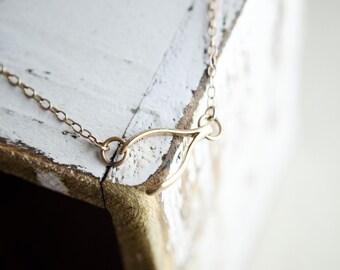 Wishbone Necklace | Sideways Gold Wishbone | Wish Bone Gold | Necklace Gold Wishbone | Good Luck Gift | Lucky Charm |