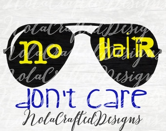 No Hair Don't Care SVG - Baby boy SVG - Onesie SVG - Baby Shower Svg - Dxf, Png, Silhouette or Cricut Cut file