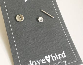 Silver Trail Studs - Set of 3 silver studs