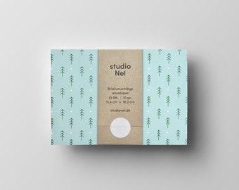 Patterned Envelopes, set of 10 pcs